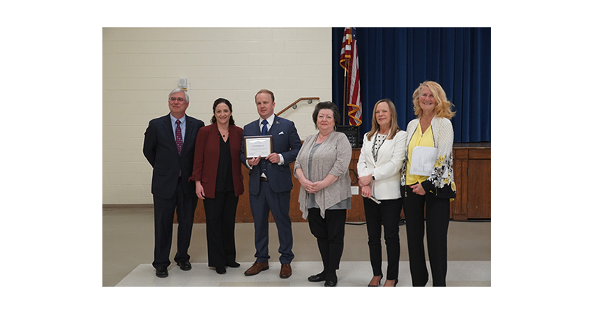 Jack W. Kennedy III Receives Award of Appreciation From the Mount Laurel Schools' Board of Education